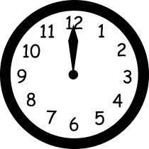 clock midnight