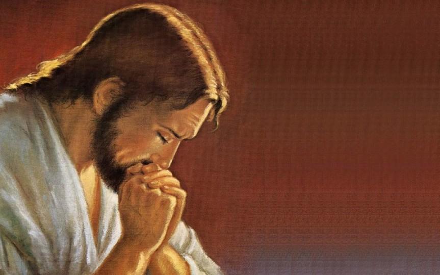 Yeshua praying