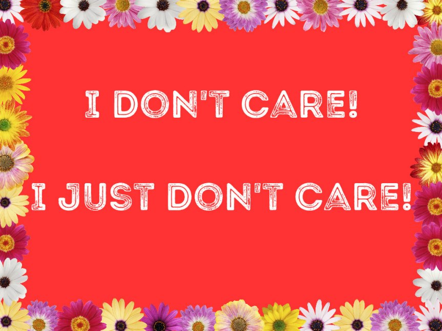 I Just Don't Care