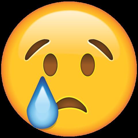 smiley sad crying