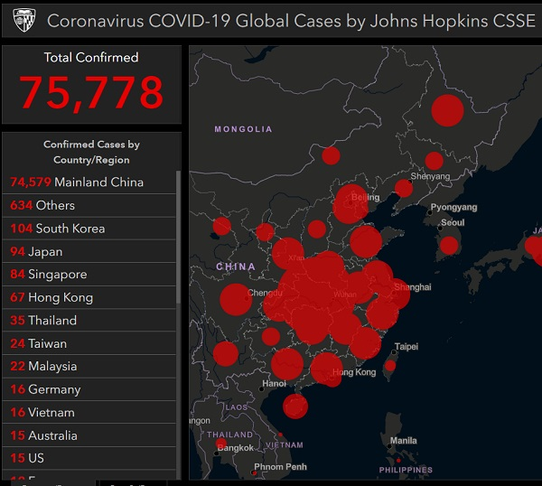 "Coronavirus Update: Infections, Deaths and ""Community Outbreaks"" EXPLODE outside China"