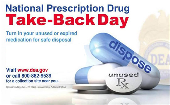 National Prescription Drug Take Back Day is October 24