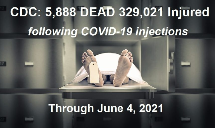 CDC: 5,888 DEAD 329,021 Injuries from COVID-19 Jabs – More than Previous 29 Years of VAERS VaccineDeaths